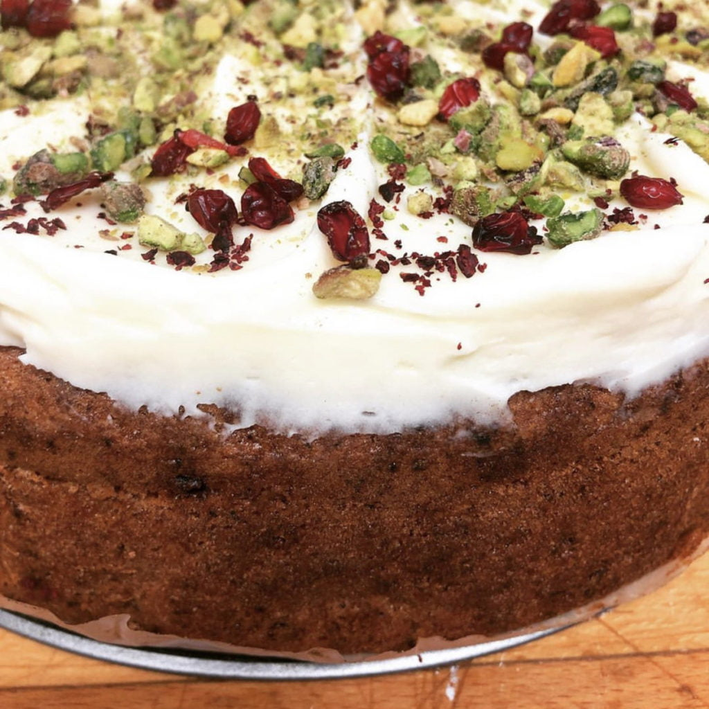 Courgette Cake with Pistachio & Barberries